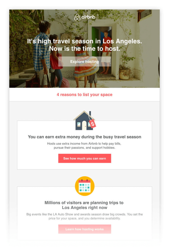 airbnb email marketing