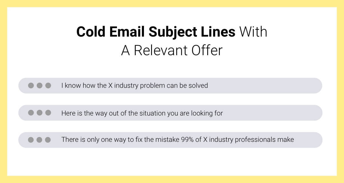 cold email subject line with offer