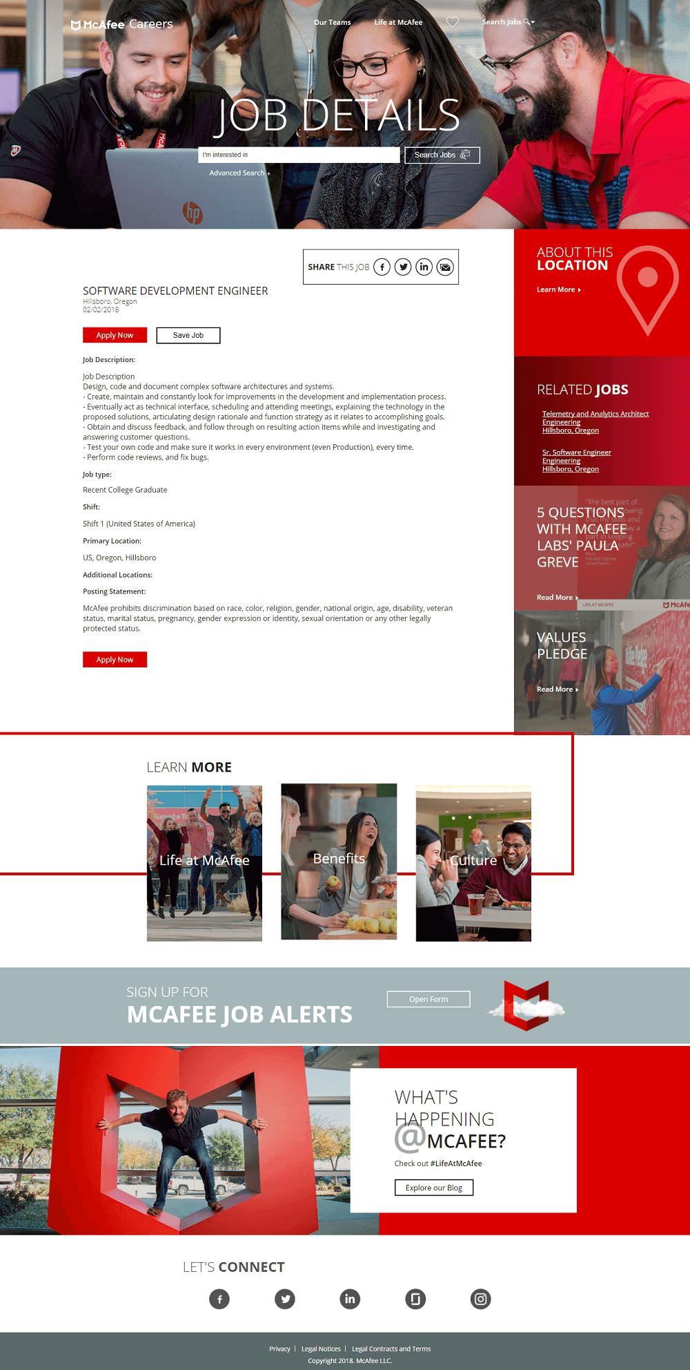 job posting landing page