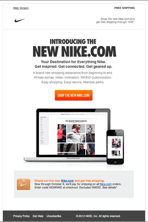 newsletter example nike