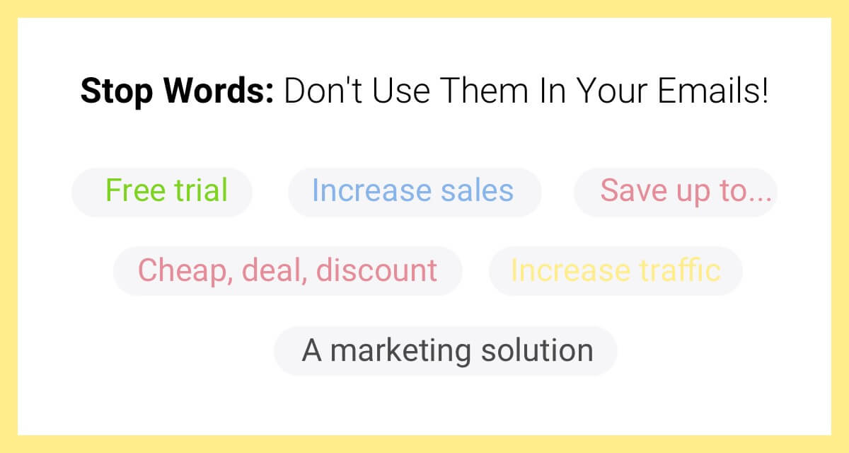 spam words in email marketing'