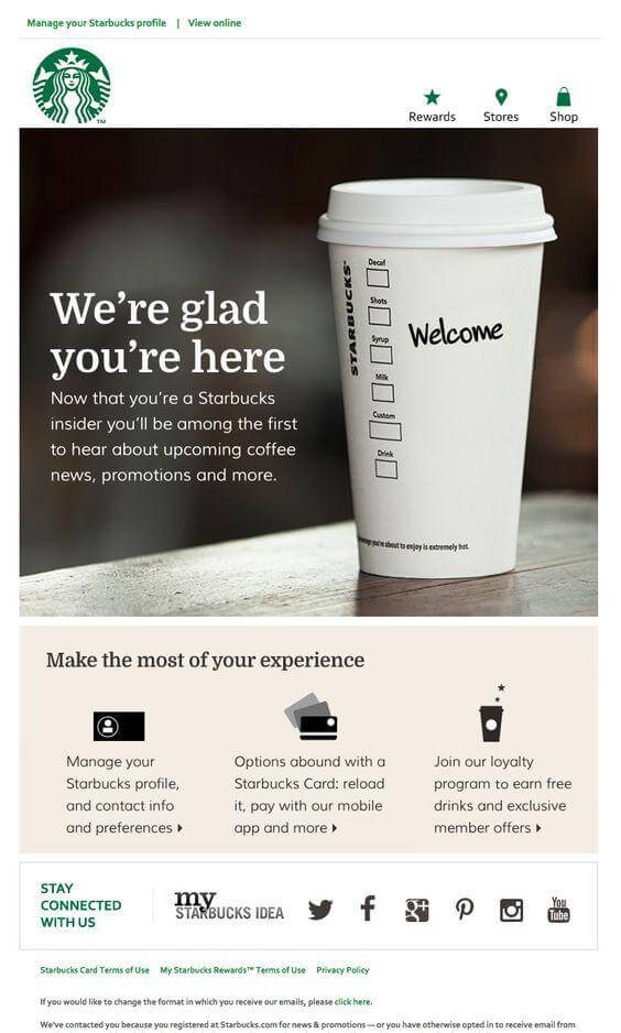 Starbucks email marketing