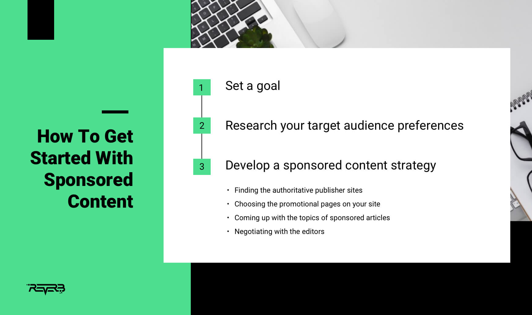 how to get started with sponsored content