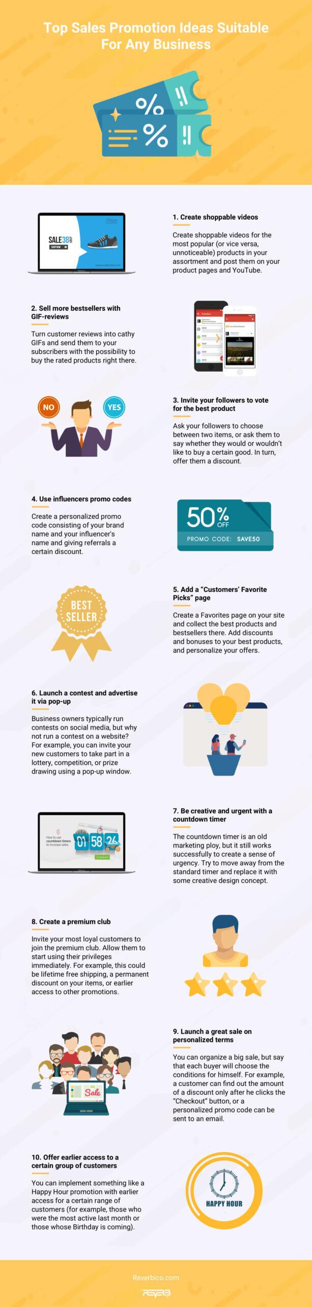 sales promotion ideas infographics